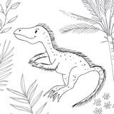 Stylized dinosaur of the middle to late Cretaceous period Royalty Free Stock Photos