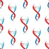 Stylized DNA spiral helix seamless pattern Royalty Free Stock Image