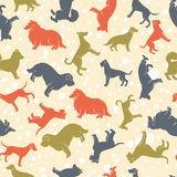 Stylized dog breeds seamless pattern Royalty Free Stock Photo