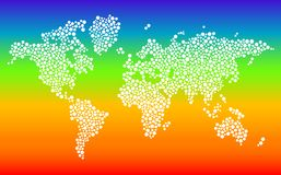 Stylized dotted world Stock Images