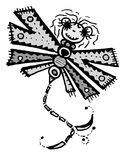 Stylized dragonfly - drawings and sketches Royalty Free Stock Image