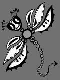 Stylized dragonfly - drawings and sketches Stock Photography