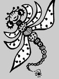Stylized dragonfly - drawings and sketches Royalty Free Stock Photos
