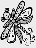 Stylized dragonfly - drawings and sketches Stock Images