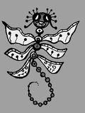 Stylized dragonfly - drawings and sketches Royalty Free Stock Photography