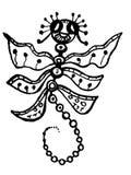 Stylized dragonfly Stock Photo