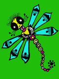 Stylized dragonfly - unique drawings and sketches Royalty Free Stock Image