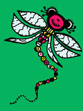 Stylized dragonfly - unique drawings and sketches Royalty Free Stock Photo