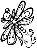 Stylized dragonfly - unique drawings and sketches Stock Photography