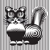 Stylized drawing of a cat Royalty Free Stock Image