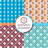 A stylized drawing. Set of geometric patterns. Square. Triangle. A selection of patterns. Vector pattern of geometric shapes. Geom Royalty Free Stock Image