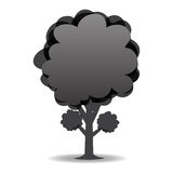 A stylized drawing of a tree. Black-and-white design. illustration Royalty Free Stock Photography