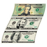 Stylized drawings of Bills for Royalty Free Stock Images