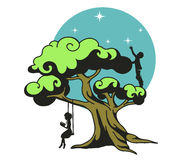 Stylized dream tree Stock Images