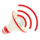 Stylized dynamic glossy speaker isolated Stock Image