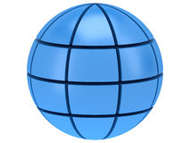 Stylized Earth planet globe 3d icon Royalty Free Stock Image