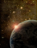 Stylized Earth and Space Artistic Image Royalty Free Stock Photography