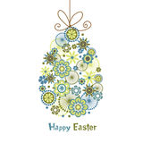 Stylized easter egg with bow Stock Photo