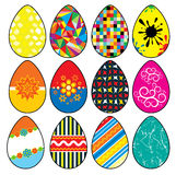 Stylized Easter Eggs Royalty Free Stock Photo