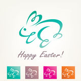 Stylized easter rabbit vector illustration