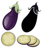 Stylized eggplant Stock Photography