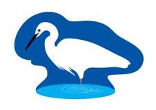Stylized Egret Stock Image