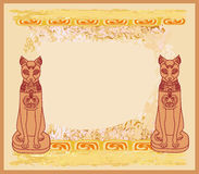 Stylized Egyptian cats Stock Photo