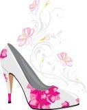 Stylized elegant female shoes. Illustration Stock Photography