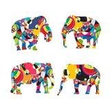 Stylized elephants Royalty Free Stock Photo
