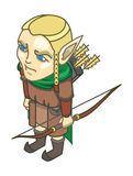 Stylized elf with a weapon Stock Images