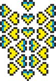 Stylized emblem of Ukraine vector illustration
