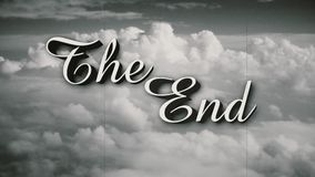 Stylized The End Old Movie End Page. A retro, old-fashioned Wizard of Oz-style The End movie or film end title page. Includes three distressed film options plus stock footage