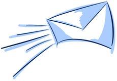 Stylized envelope illustration concept Royalty Free Stock Photography