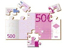 Stylized 500 euro Stock Photo