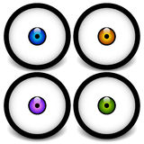 Stylized eyeball icons, graphics Royalty Free Stock Images