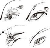 Stylized eyes Stock Photography