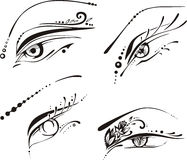 Stylized eyes Stock Photos
