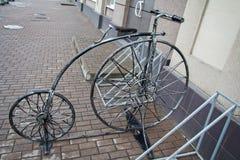 Stylized förfalskade cykeln för att parkera Arkivbilder