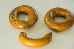 The stylized face of bagels Royalty Free Stock Photo