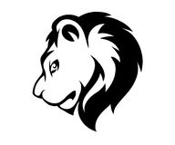 Stylized face of lion isolated Stock Images
