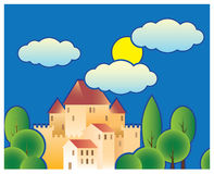 Stylized fairy tale castle Stock Photography