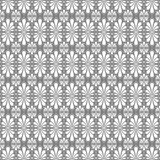 Stylized Fan Seamless Pattern. Stylized palm leaf tiles on square distribution. Classical radiating motif, common in Egyptian, Greek and Assyrian ancient art Royalty Free Stock Photos
