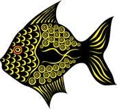 Stylized fancy fish on white background. Stylized contrast fancy fish on white background Stock Photos