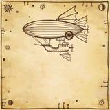 Stylized fantastic airship Royalty Free Stock Photo