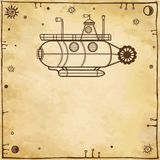 Stylized fantastic submarine Royalty Free Stock Photos