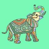 Stylized fantasy patterned elephant Royalty Free Stock Photos