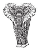 Stylized fantasy patterned elephant Stock Photography