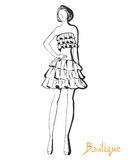 Stylized fashion model figure Royalty Free Stock Photo
