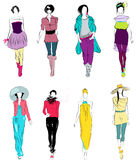 Stylized fashion models Royalty Free Stock Photography