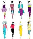 Stylized fashion models Royalty Free Stock Photography